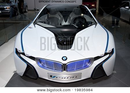 LOS ANGELES, CA. - DECEMBER 3: BMW Vision Efficient Dynamics Concept on display at the 2009 Los Angeles Auto Show at L.A. Convention Center on December 3, 2009 in Los Angeles