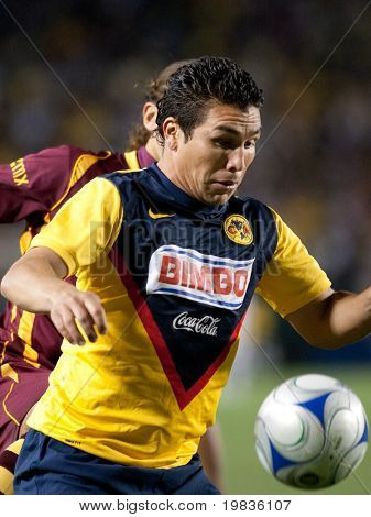 CARSON, CA. - JANUARY 9: Salvador Cabanas in action during the InterLiga 2010 match of Club America and Estudiantes Tecos  at the Home Depot Center January 9, 2010 in Carson, CA.