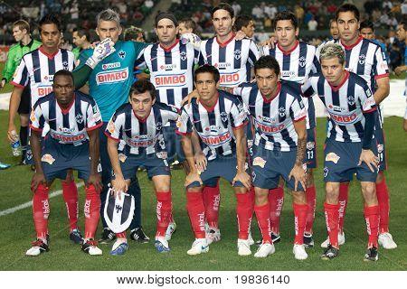CARSON, CA. - 10 de enero: Monterrey a partir de 11 antes del partido de InterLiga 2010 de Puebla vs Monter