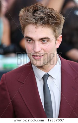 LOS ANGELES, CA. - JUNE 24: Robert Pattinson attends The Twilight Saga Eclipse  Los Angeles premiere on June 24th, 2010 at The Nokia Theater in Los Angeles, Ca.