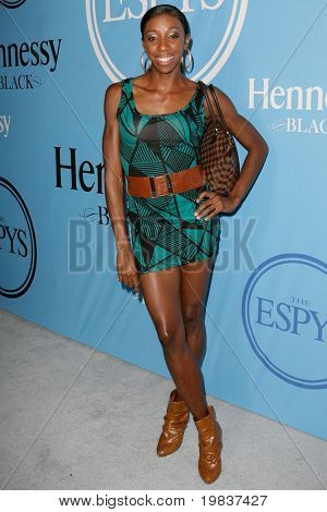 HOLLYWOOD, CA. - JULY 13: Olympic Gold Medalist Lishinda Demus attends Fat Tuesday at The ESPYs on July 13, 2010 in Hollywood, Ca.