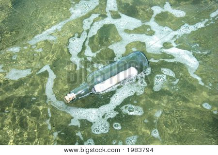 Message In A Bottle Floating