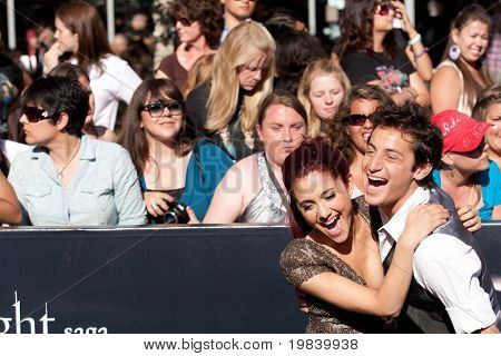 LOS ANGELES, CA. - JUNE 24: Ariana Grande and her brother attend The Twilight Saga Eclipse Los Angeles premiere on June 24th, 2010 at The Nokia Theater in Los Angeles, Ca.