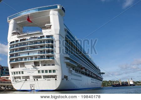 ST. LUCIA - DEC 2: The Caribbean Princess cruise ship holds a maximum of 3622 passengers and 1200 crew and is operated by Princess Cruises. Taken on Dec 2, 2010 in Castries, St. Lucia.