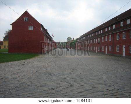 Barracks In Kastellet In Copenhagen