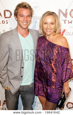 SANTA MONICA, CA. - FEB 22: Australian actor Lincoln Clay Lewis & Madonna Williams arrive at the Nomad Two Worlds Los Angeles debut gala at 59 Pier Studios West on Feb 22, 2011 in Santa Monica, CA.