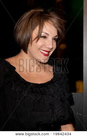 LOS ANGELES, CA. - MARCH 7: Jill-Michele Melean arrives at Paramount Studios to celebrate the release of the Jackass 3 Blu-ray and DVD debut on March 7th 2011 in Los Angeles.