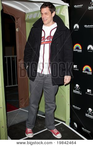 LOS ANGELES, CA. - MARCH 7: Johnny Knoxville arrives at Paramount Studios to celebrate the release of the Jackass 3 Blu-ray and DVD debut on March 7th 2011 in Los Angeles.