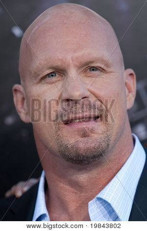 "HOLLYWOOD, CA. - AUG 3: ""Stone Cold"" Steve Austin arrives at The Expendables Los Angeles premiere at Grauman's Chinese Theater on August 3, 2010 in Hollywood, Ca."