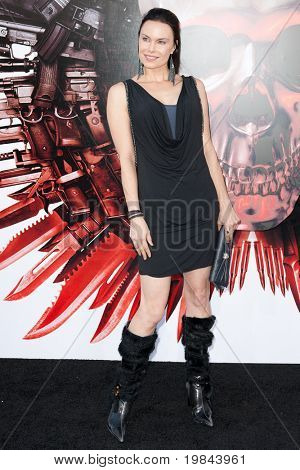 HOLLYWOOD, CA. - AUG 3: Actress Jon Mack arrives at The Expendables Los Angeles premiere at Grauman's Chinese Theater on August 3, 2010 in Hollywood, Ca.