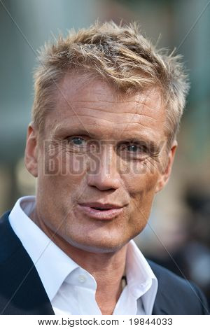 HOLLYWOOD, CA. - AUG 3: Dolph Lundgren arrives at The Expendables Los Angeles premiere at Grauman's Chinese Theater on August 3, 2010 in Hollywood, Ca.