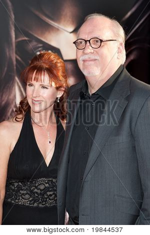 HOLLYWOOD, CA. - MAY 2: Actress Patricia Tallman (L) and writer J. Michael Straczynski (R) arrive at the Los Angeles premiere of Thor at the El Capitan Theatre on May 2, 2011 in Hollywood, California.