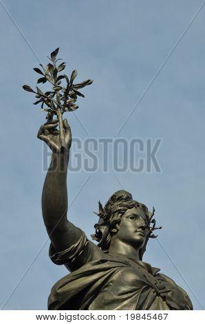 the statue of the Republic