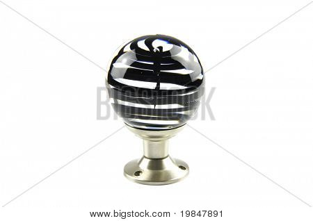 A glass doorknob