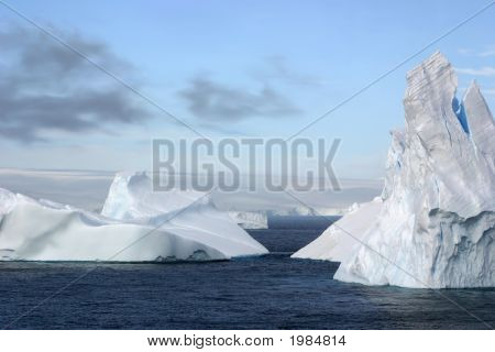 Icebergs And  Ocean