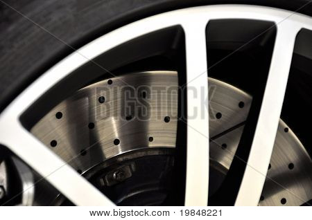Disc brake of a sports car