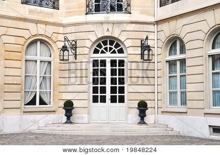 Beautiful parisian building