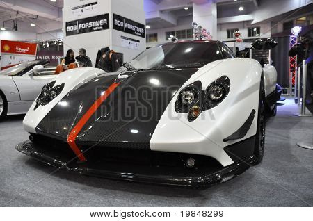 LONDON, UK - NOVEMBER 7: A Pagani Zonda Cinque at the MPH motorshow, November 7, 2010 in London, United Kingdom