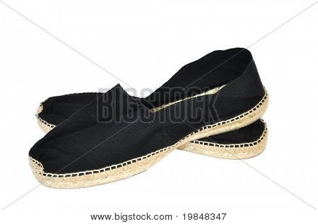 A pair of espadrilles isolated on a white background