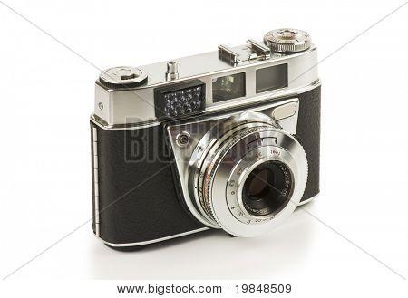 Vintage camera on a white background