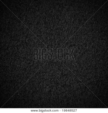 Black wool fabric texture with vignette