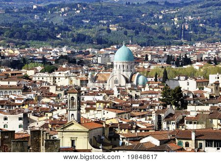 The Great Synagogue of Florence called Tempio Maggiore Israelitico in Italian, Italy