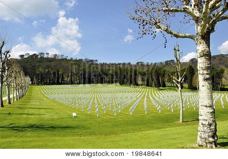 American cemetery outside Florence, Italy