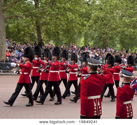 LONDON, UK - APRIL 29: Royal guards at Prince William and Kate Middleton wedding, April 29, 2011 in London, United Kingdom