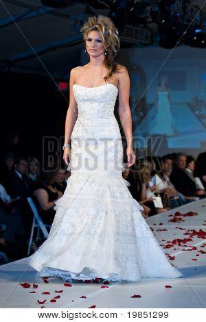 SCOTTSDALE, AZ - NOV 7: Destiny's Bride formal and bridal fashion collection shown at Scottsdale Fashion Week on November 7, 2008 in Scottsdale, Arizona.
