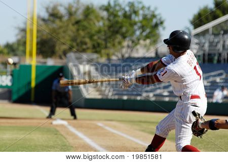 MESA, AZ - NOV 20: Quintin Berry of the Mesa Solar Sox swings at a pitch in the Arizona Fall League baseball game with the Scottsdale Scorpions on November 20, 2008 in Mesa, Arizona.