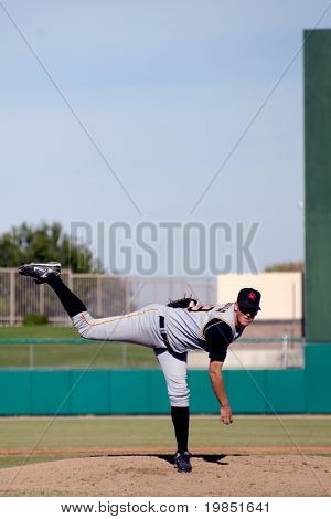 MESA, AZ - NOV 20: Pitcher Michael Crotta of the Scottsdale Scorpions warms up in the Arizona Fall League game with the Mesa Solar Sox on November 20, 2008 in Mesa, Arizona.  The Scorpions won 10-9.