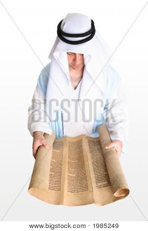 Man Reading From The Scrolls
