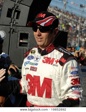 AVONDALE, AZ - APRIL 18 Greg Biffle #16 is introduced before the start of the NASCAR Sprint Cup race at the Phoenix International Raceway on April 18, 2009 in Avondale, AZ.