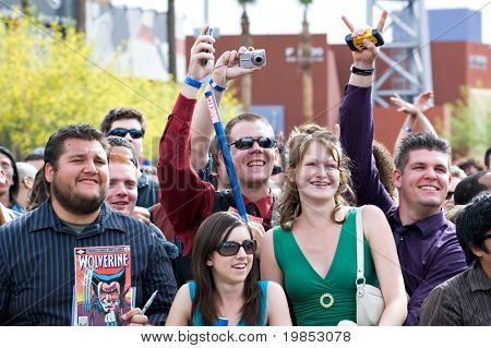 TEMPE, AZ - APRIL 27: Fans attend the premiere of X-Men Origins: Wolverine on April 27, 2009 in Tempe, AZ.