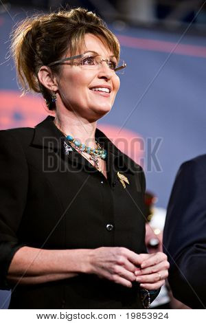 MESA, AZ - MARCH 27: Former Republican Vice Presidential candidate Sarah Palin attends a re-election rally in support of Arizona Senator John McCain on March 27, 2010 in Mesa, AZ.