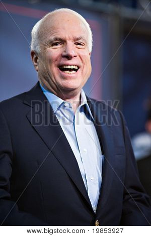 MESA, AZ - MARCH 27: Senator John McCain attends a re-election rally on March 27, 2010 in Mesa, AZ.