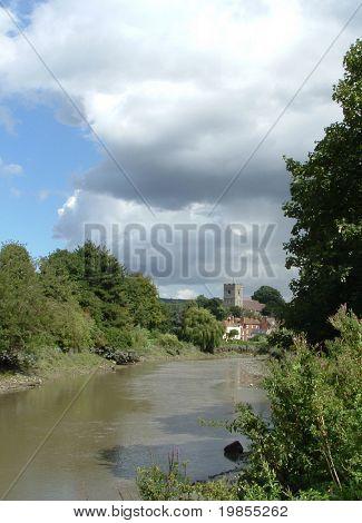 English village on river medway, kent.