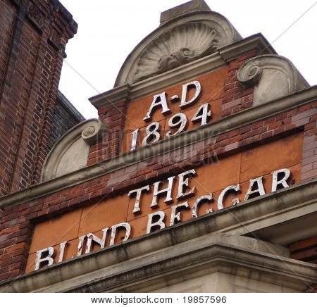 Famous london pub sign.