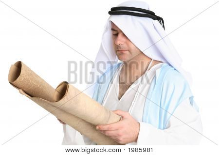 Biblical Man Reading Scroll