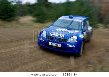 Rallye car - the photo was taken at the Waldviertel Rallye 2007 in Austria.