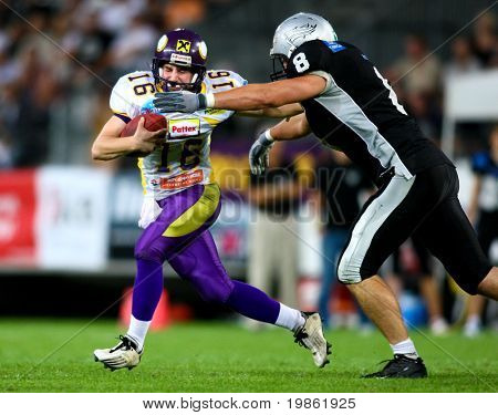 European Football League Championship Game - Tirol Raiders playing against the Vienna Vikings - July 2008