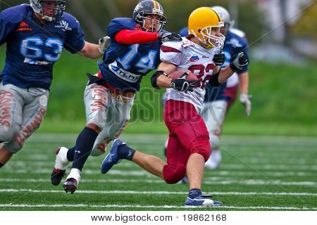 Vienna, Austria - October 25: The CNC Gladiators win the Central European Football League 2008 against the Vukovi Beograd.