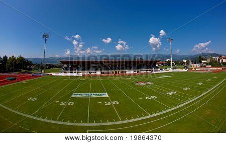 WOLFSBERG, AUSTRIA - AUGUST 16 American Football B-EC on August 16, 2009 in Wolfsberg, Austria. Shown is the stadium in Wolfsberg.