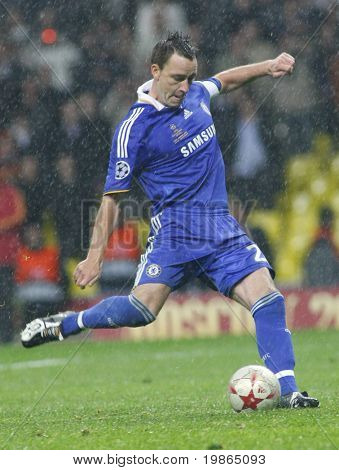 John Terry at the Champions League Final held at Luzhniki Stadium Moscow 21 May 2008 and contested by Manchester United v Chelsea FC