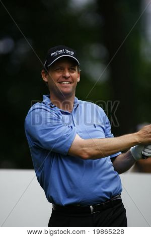 Anders Hansen competes at the PGA European Tour BMW Open Golf Munich Germany 19 - 22 June 2008 at the Golf Club Munchen Eichenried
