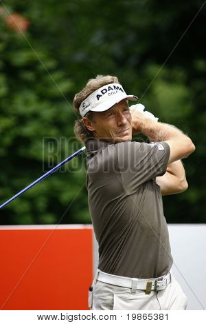 Germany's Bernhard Langer competes at the PGA European Tour BMW Open Golf Munich Germany 19 - 22 June 2008 at the Golf Club Munchen Eichenried