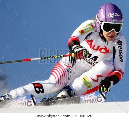 Ofterscwhang Deutschland 26. Januar Michaela Kirchgasser Österreich im Wettbewerb in der Audi Fis alpine ski-wo