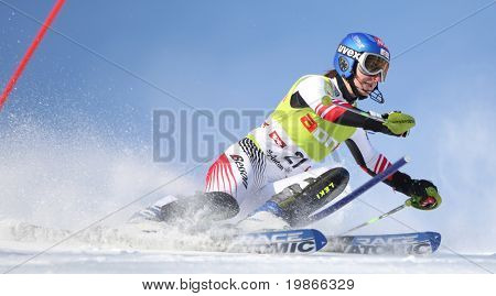 ST ANTON AUSTIA DECEMBER 22 Kathrin Zettel Austria Competing in the Audi FIS Alpine Ski World Cup Events 2007-2008