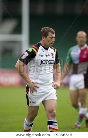TWICKENHAM UK AUGUST 03,  Lestyn Harris Playing in the Engage Super League Rugby league match Between Harlequins RL and Bradford Bulls at The Stoop, Twickenham London 03/08/2008