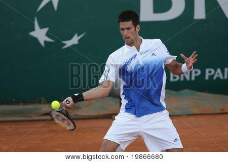 MONTE CARLO MONACO APRIL 25 , Serbian Novack Djokovic   competing in the ATP Masters tournament in Monte Carlo, Monaco, 19-27 April 2008